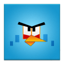 Blue Angry Bird Frameless-128