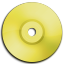 Cd DVD Yellow icon