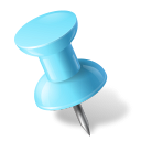 Map Marker Push Pin 1 Left Azure-128