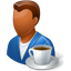 Person Coffeebreak Male Dark icon