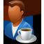 Person Coffeebreak Male Dark icon
