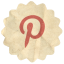 Retro Pinterest icon