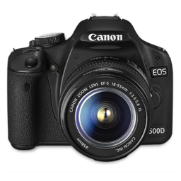 Canon 500D front up