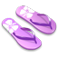 Purple slipper icon