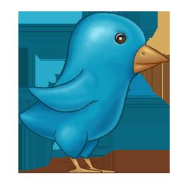 Painted Twitter Bird