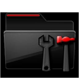 Folder Admin black red