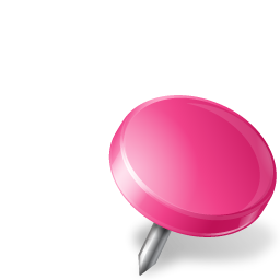 Map Marker Drawing Pin Right Pink