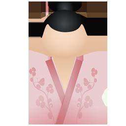 Kimono women pink