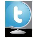 Twitter Globe-128