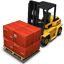 Forklift Cargo Icon