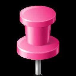 Map Marker Push Pin 2 Pink