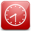 Clock red icon