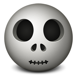 Skull emoticon