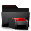 Folder Printers black red-128