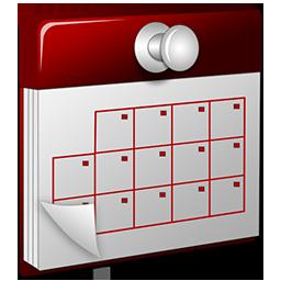 3D Calendar red
