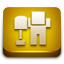 Digg ornage glossy icon