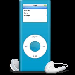 ipod bleu turquoise