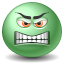 Angry emoticon icon