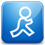 AIM blue icon