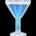 Wineglass blue-128