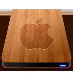 Wooden Slick Drives Apple