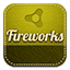 Fireworks retro icon