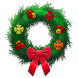 Holiday wreath festive