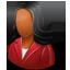 Customer Female Dark icon