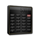 Calculator Black and Gold-128