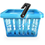 Blue Shopping Basket Icon