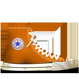 Converse Orange dirty