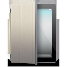 iPad 2 black beige cover