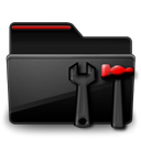 Folder Admin black red-128