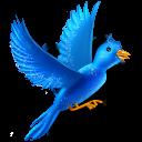 Flying bird sparkles-128
