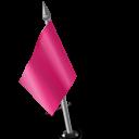 Map Marker Flag 2 Left Pink-128