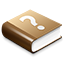 Brown Help Book Icon