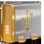 USB orange icon
