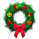 Holiday wreath festive-128