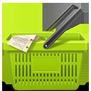 Green Shopping Basket-128