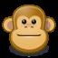 Gnome Face Monkey icon