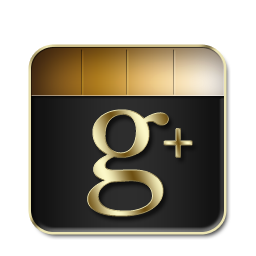 Google Plus Black and Gold