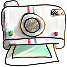 Instant Photo Cartoon Icon Download Cute Icons Iconspedia