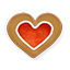 Christmas Heart Cookie icon