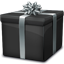 Black Giftbox icon