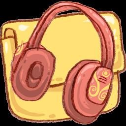 Folder Music Headphones