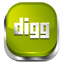 Digg green button icon