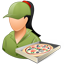 Pizzadeliveryman Female Light icon