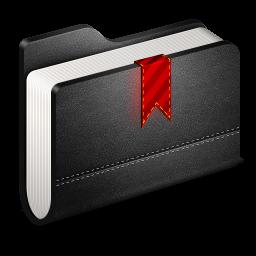 Bookmarks Black Folder