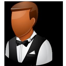 Waiter Male Dark