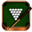 Billiards wooden icon